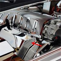 Challenger SRT 8 Fuel Rail Covers (Aftermarket Air Box) - 08-12