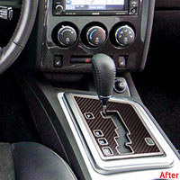 Challenger 2Pc Carbon Fiber Shifter Plate Overlay - 08-12