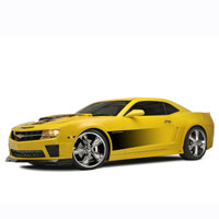 Camaro Graphic Gradient Side Sport Fade - 10-13
