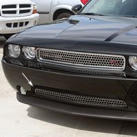 Challenger Grille Overlay Style Lower Brushed - 11-13