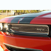 Challenger Polished Grille Overlay Upper Main - 08-14