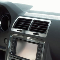 Challenger 5Pc A/C Vent Trim Brushed - 08-14