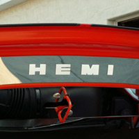 Challenger Polished Hood Plate Front Plain or HEMI - 08-14