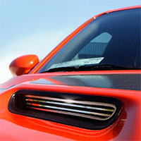 Challenger 2pc Polished Hood Scoop Billet Style - 08-13