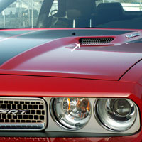 Challenger Hood Scoop Grille Overlay Polished 2pc - 2008-2014