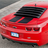 Camaro MRT Rear Window Louver with Prop Rod Kit - 2010+
