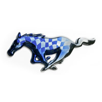 Mustang Chrome Painted Checkered Flag (Available in 15+ Colors)