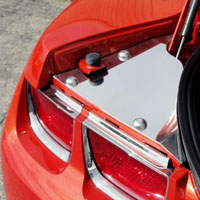 Camaro Rear Billet Trunk Covers - 2010
