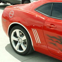 Camaro 6pc Rear Quarter Stainless Trim - 2010+-2012