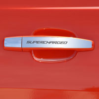 "Camaro ""SUPERCHARGED"" 2pc Door Handle Plate Polished - 10-13"