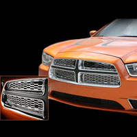 Charger 4pc Polished Stainless Front Grille Overlays - 11-12