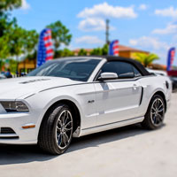 Mustang Convertible Side Sport Graphic Brushed Black - 2014