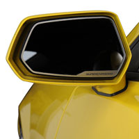 Camaro 2pc Side View Mirror Trim 'SUPERCHARGED' - 10-13