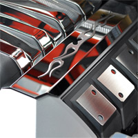"Camaro Stainless ""Tribal Flame"" Fuel Rail Covers - 2010-2013"