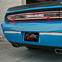 Challenger Taillight Insert Trim Plate w/Smoked Glass - 08-13