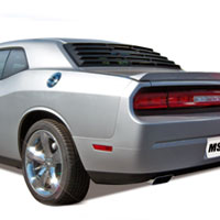 Challenger 1 Piece ABS Rear Window Louvers - 08-13