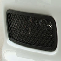 C6 2pc Driving Light Covers Laser Mesh Blakk Stealth -05-12