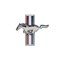 Ford Mustang Logo - Silver Peel and Stick