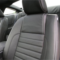 2011 Mustang Conv. Leather Seat Cover Kit w/Air Bags-Dk Charcoal