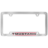 Mustang w/ Pink Ribbon License Plate Frame