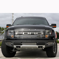 Ford Raptor 3pc Lower Front Grille Brushed/Polished - 10-13