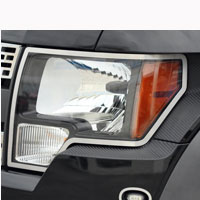Ford Raptor 2pc Headlight Carbon Fiber Wrap - 10-13
