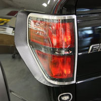 Ford Raptor 2pc Rear Taillight Trim Rings Brushed - 09-13