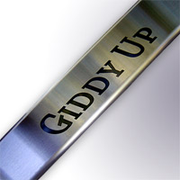 Giddy Up Sill Plates - Brushed Finish - Mustang 1994-2004