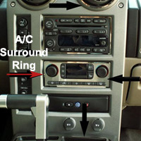 H2 Stainless Polished A/C Surround Ring