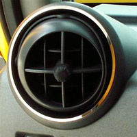 Stainless Polished 4pc Front A/C Vent Rings