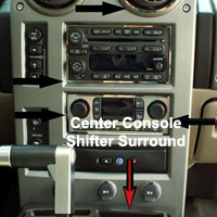 Stainless Polished Center Console Shifter