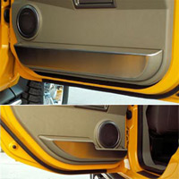 H2 4pc Front & Back Brushed Door Guards