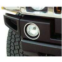 H2 Hummer Polished Stainless 4-pc Driving Light Trim Rings