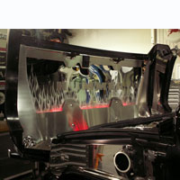 Hummer H2 7pc Hood Panel Etched Flame Illuminated - 03-07