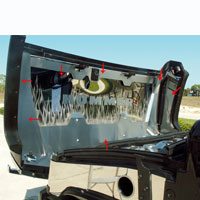 Hummer H2 7pc Hood Panel with Etched Flames - 03-07