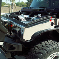 Hummer H2 2pc Polished Inner Fender Covers - 03-07
