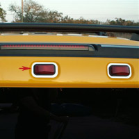 Hummer H2 Polished Stainless 3-pc Rear Running Light Trim