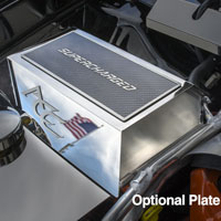 Hellcat Polished Fuse Box Cover w/Optional Cover Plate Accessory