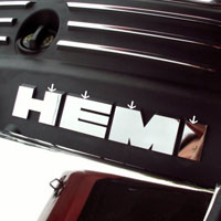 5.7 HEMI Letters Polished Chrysler 300, Charger, Magnum - 05-15