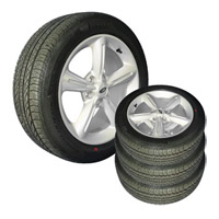 2010 Mustang GT Wheel & Tire Set 18X7 5 Spoke/Pirelli