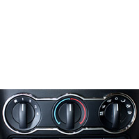 Mustang A/C Knob Surround Highlights - 05-09