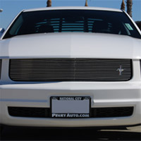 V6- SHELBY LOOK Mustang Grille Overlay with Pony - 2005+