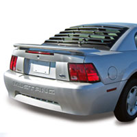 Mustang 1 Piece ABS Rear Window Louvers - 94-04