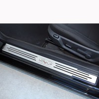 Mustang 2pc Doorsills '5.0' Slotted Carbon Fiber - 10-13