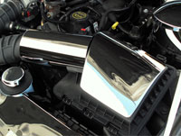 Mustang V6 & GT 2pc Stainless Air Box Cover - 05-09