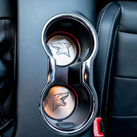 Mustang 2Pc Coyote Cup Holder Inserts - 2015