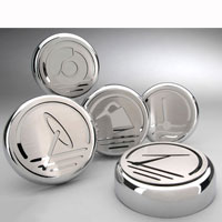 Mustang 5pc Executive Series Fluid Cap Cover Set - 05-09