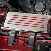 Mustang Fuse Box Cover with Customizable Color - 2015