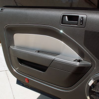 4-pc Brushed Stainless Door Panel Kit - 2005-2009 Mustangs