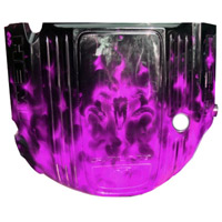 Painted Engine Cover - Brilliant Blk Pearl Real Fire w/ Violet